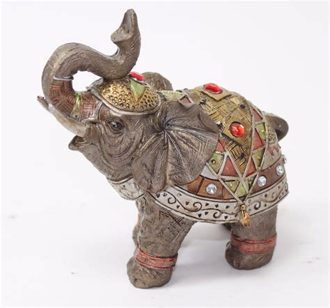 lucky elephant figurine art home decor sculpture majestic feng shui 5 quot bronze elephant figurine wealth lucky