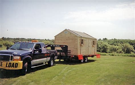 Shed Delivery Trailer by Maine Storage Shed Pictures Larochelle And Sons Sheds