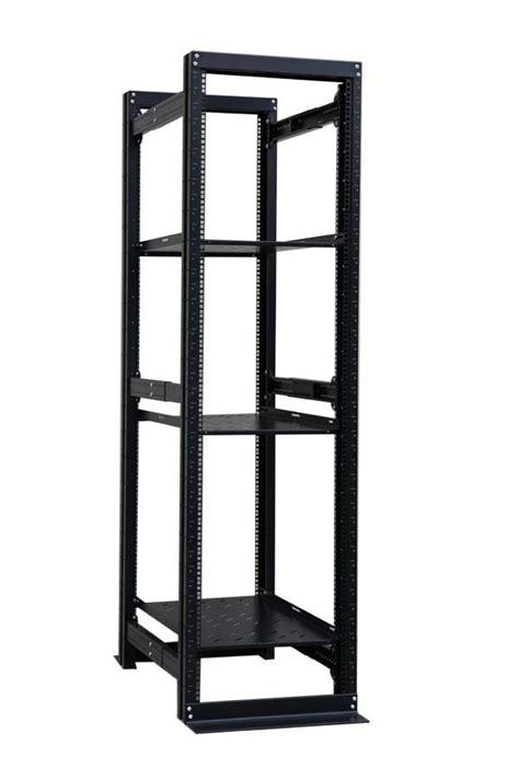 4 Post Shelf by 42u 4 Post Open Frame Server Rack Enclosure 19 Quot Adjustable