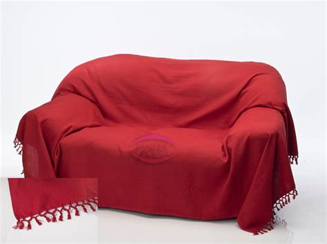 heavyweight soft cotton blanket sofa bed chair waffle