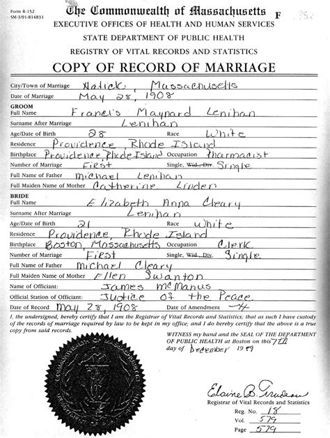 Cambridge Ma Marriage Records Home Page Www Ginnisw