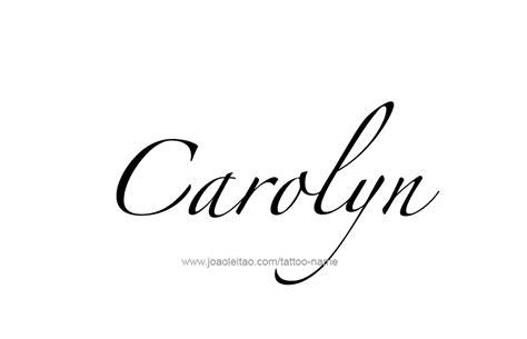 carolyn name tattoo designs