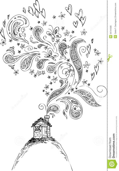 doodlebug doodlebug your house is on house with doodle smoke vector stock photo image 34741590
