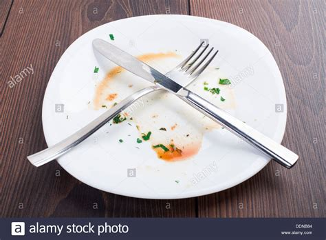 After Dinner empty plate left after dinner stock photo royalty free