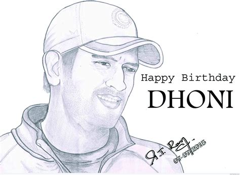 M S Dhoni Sketches pencil sketch of m s dhoni desipainters