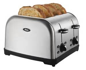 Oster Stainless Steel Toaster Amazon Com Oster Tssttrwf4s 4 Slice Toaster Kitchen Amp Dining