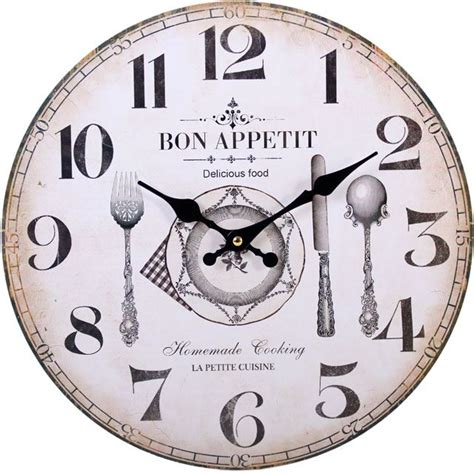 Large Vintage Rustic Wall Clocks Shabby Chic Kitchen Home Large Kitchen Wall Clocks