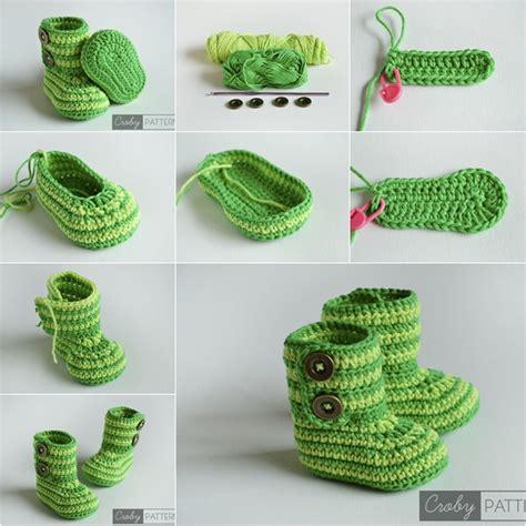 diy booties wonderful diy crochet ugg style baby booties