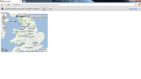 html geolocation tutorial html5 tutorials detect user s location with html