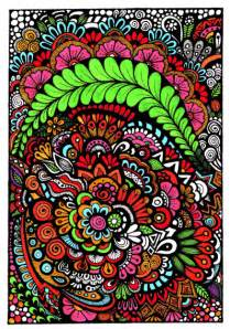 colored pages flowers trees leaves zendoodle stuff
