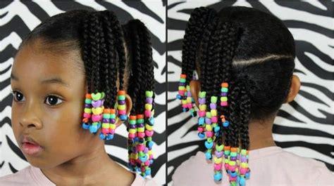 elegant  girl braids  beads hairstylecamp