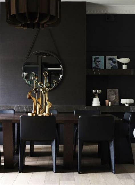 Black Decor by Black Interior Design With Vibrant Accents