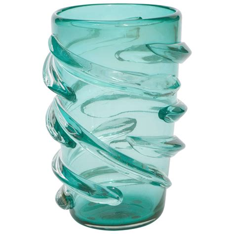 a large murano glass vase by pino signoretto at 1stdibs
