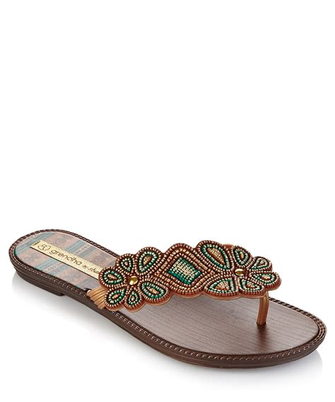 beaded sandals grendha by shakira shake green beaded sandals designer
