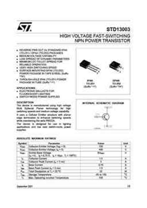 igbt transistor catalog std13003 pdf datasheet all transistors datasheet power mosfet igbt ic triacs database