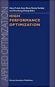 high performance computing modern systems and practices books high performance optimization applied optimization volume