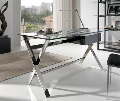 modern glass office desks office desks modern office furniture trendy products co uk