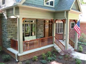 Porch Banisters by Porch Railings Brick Front Porch Porch Railing Craftsman Style Porch Mahogany Entry Door