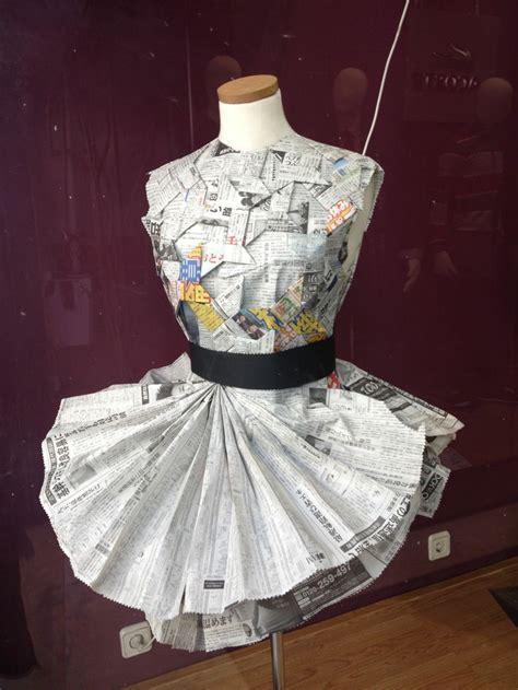 vestido manualidades de papel periodico vestido papel de peri 243 dico japon 233 s papeleo pinterest