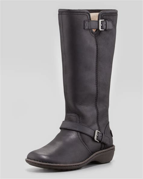 ugg tupelo leather boot black in black lyst