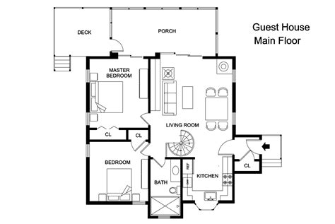 house plan with guest house adobe guest house plans cottage house plans