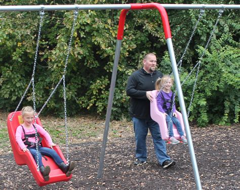 Swing In The by Wheelchair Accessible Swings Playground Equipment For