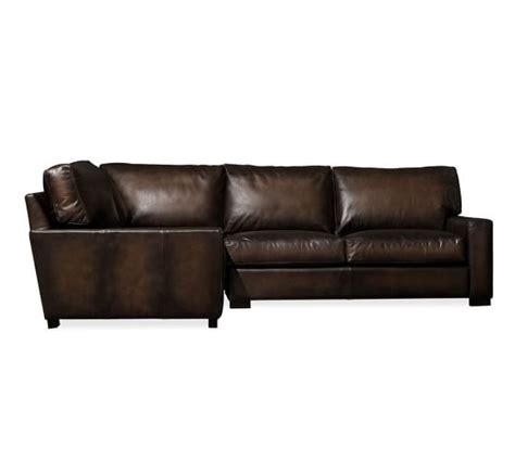 turner leather sectional turner square arm leather 3 piece sectional with corner