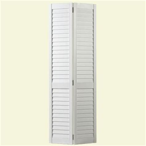 Louvered Interior Doors Home Depot Masonite 24 In X 80 In Plantation Louver Painted Pine Interior Closet Bi Fold Door 25437