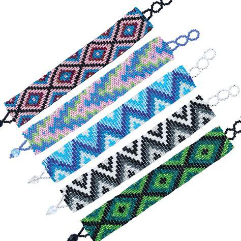 patterns for seed bead bracelets wide assorted seed bead pattern bracelet