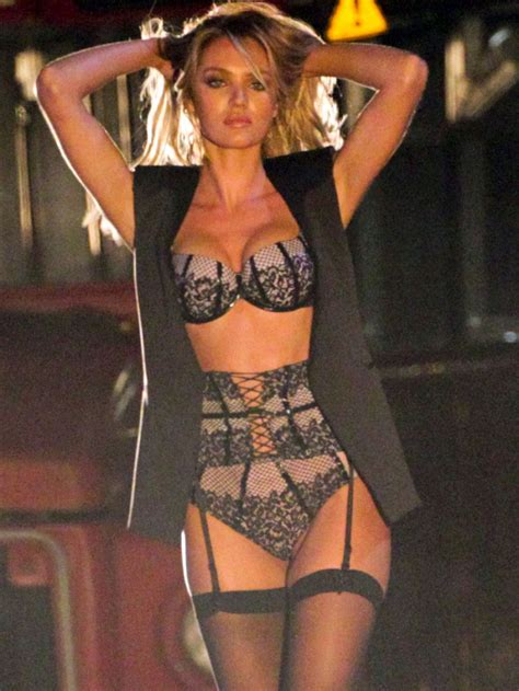 Candice Set candice swanepoel on the set of s secret commercial in los angeles hawtcelebs