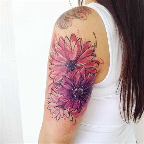 watercolor flower tattoos watercolor flowers tattoos on