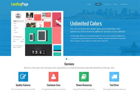 wordpress landing page theme responsive multi purpose