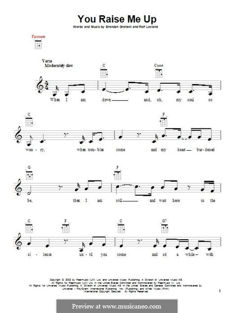 strumming pattern for you raise me up you raise me up by b graham r l 248 vland sheet music on