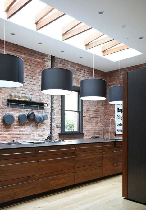 warehouse kitchen design 25 modern kitchens and interior brick wall design ideas