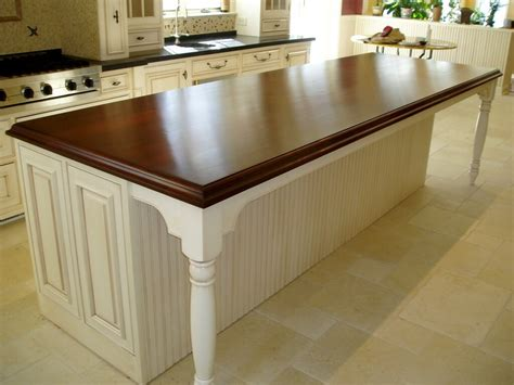 Island Kitchen Counter Premium Wide Plank Wood Countertops Custom