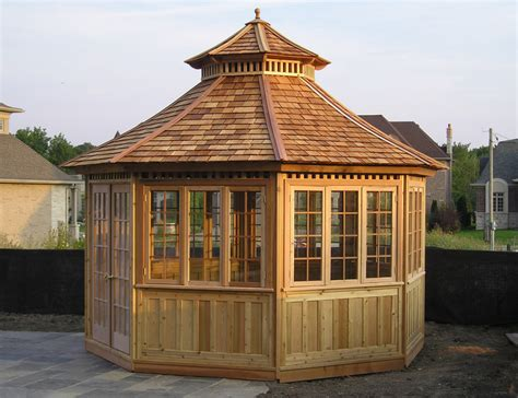 gazebo structure gazebos and pavilions cedar wood structures