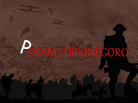 biografi pangeran diponegoro perang diponegoro