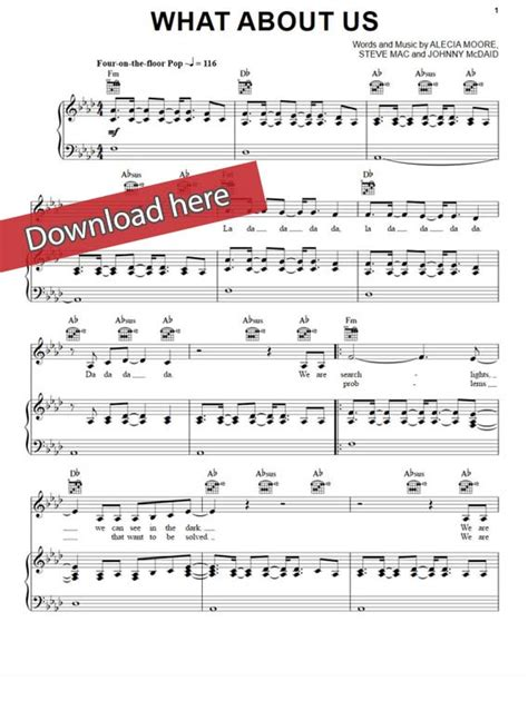 download mp3 free what about us pink pink what about us sheet music piano notes chords
