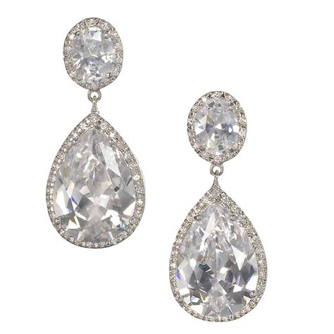 braut ohrringe tropfen nadia dramatic bridal drop earrings anna bellagio