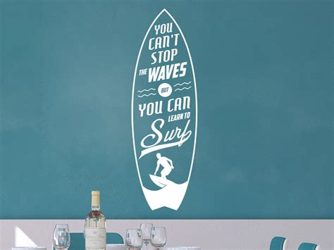 wandtattoo stop the waves vintage schrift wandtattoo de