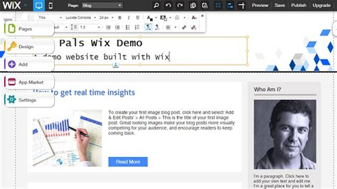 how to create a free website with wix sme pals
