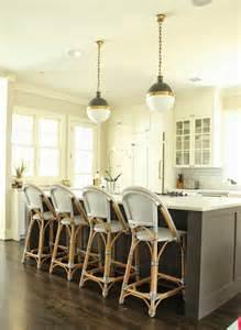 Belmont White Kitchen Island bistro counter stools transitional kitchen belmont