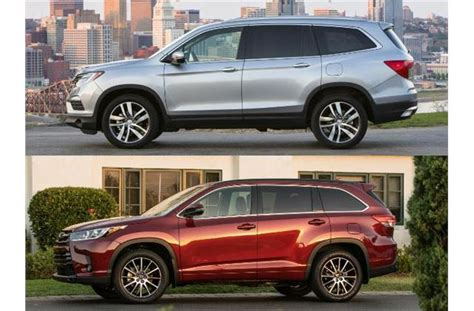 honda vs toyota 2017 honda pilot vs 2017 toyota highlander to