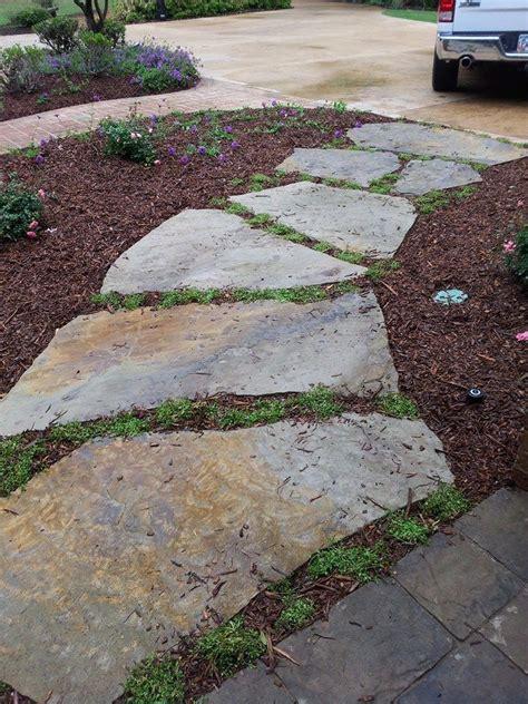 flagstone walkway flagstone pathway pinterest