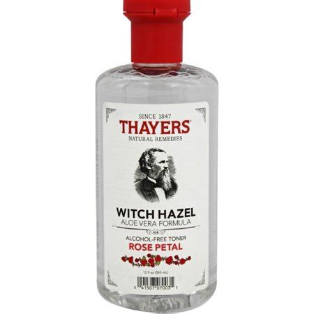 thayers alcohol free rose petal witch hazel with aloe vera 12 fluid ounce thayers witch hazel aloe vera formula free toner petal 12 oz pack of 6 walmart