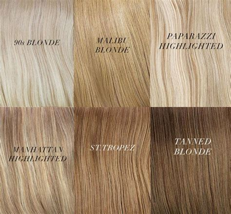 different shades of hair chart hair colors