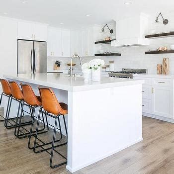 shiplap under bar white kitchen cabinets with espresso floating shelves
