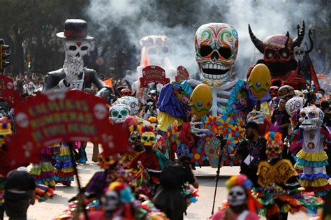 for day of the dead mexico s day of the dead parade pays tribute to quake