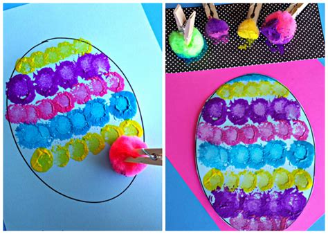 easy easter craft painting eggs 16 easy easter crafts for