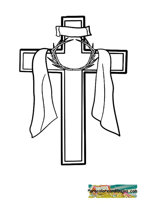 dibujos para colorear de la cruz cruz para dibujar imagui